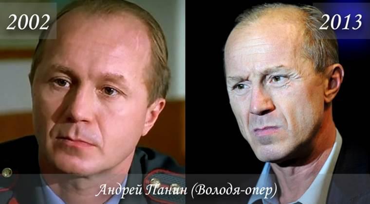 Фото Андрея Панина (Владимир Евгеньевич Каверин / «Володя-опер») тогда и сейчас