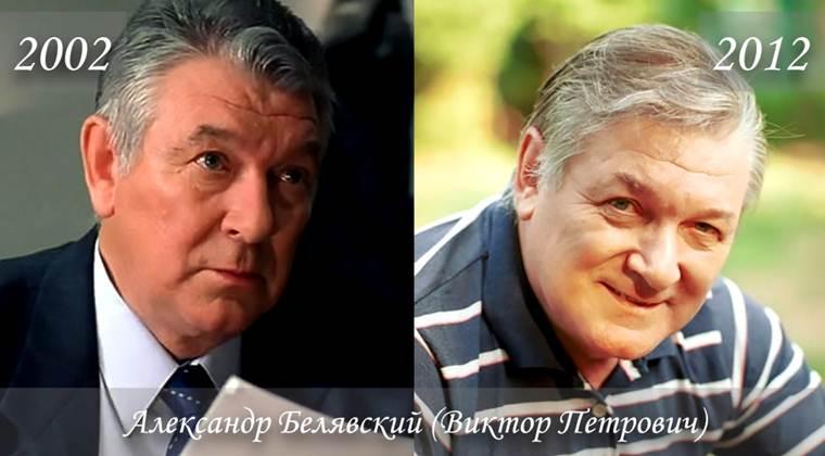 Фото Александра Белявского (Виктора Петровича) тогда и сейчас