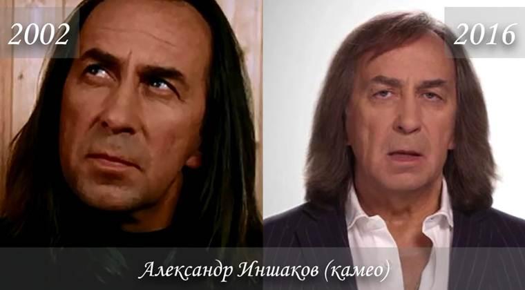 Фото Александра Иншакова (играет сам себя) тогда и сейчас
