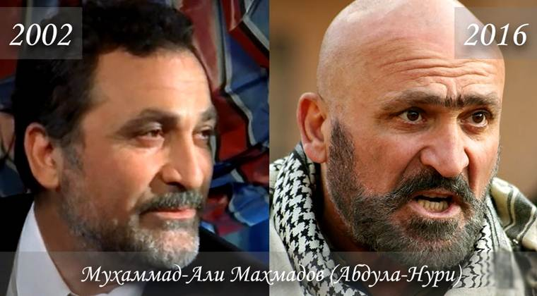 Фото Мухаммада-Али Махмадова (Абдула-Нури) тогда и сейчас
