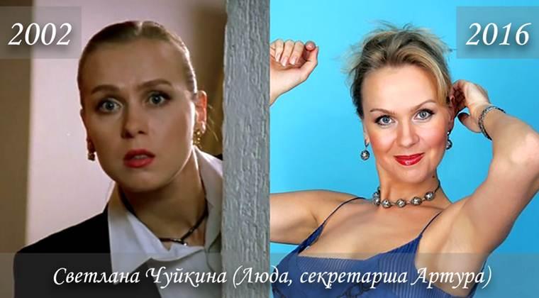 Фото Светланы Чуйкиной (Люда, секретарша Артура) тогда и сейчас