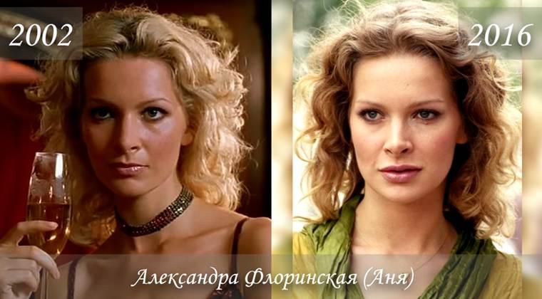 Фото Александры Флоринской (Анны) тогда и сейчас