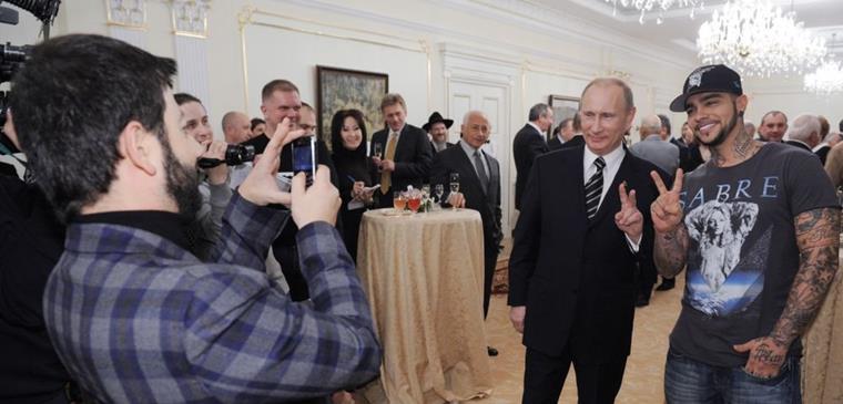 Рост Тимати и Владимира Путина
