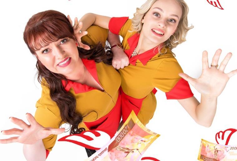 Актеры и роли сериала «Две девицы на мели»