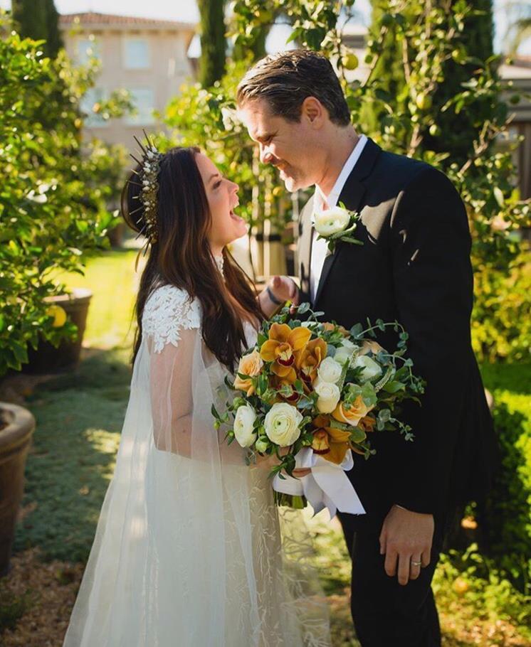 Холли Комбс свадебное фото